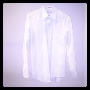 White long sleeve men's dress shirt by Van Heusen